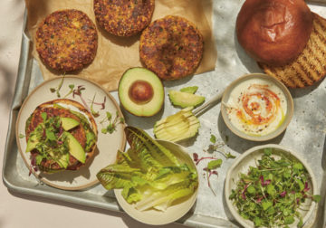 Anna Jones' carrot burger and rainbow bowl – recipes